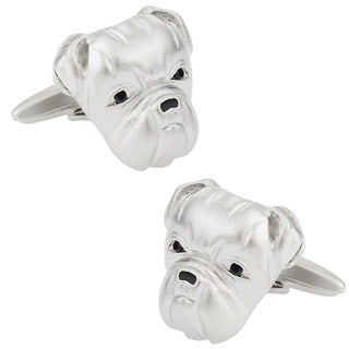 Cuff Daddy Silvertone Bulldog Cuff Links