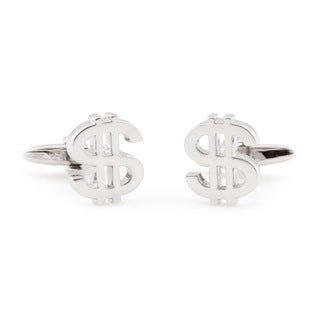Cuff Daddy Silvertone 'Money Money Money' Cuff Links