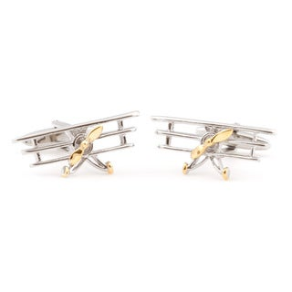Cuff Daddy Two-Tone Triplane Cufflinks