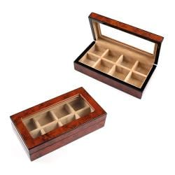 Wood Cufflinks Cuff Link Box