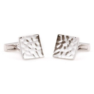 Cuff Daddy Silver Concave Cuff Links