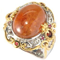 Michael Valitutti Two-tone Hessonite Garnet and Orange Sapphire Ring