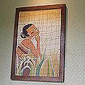 Cholprasertsuk 'Quiet Moment' Batik Print Art (Thailand)