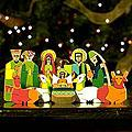 Handcrafted Pinewood 'God's Gift' Nativity Scene (El Salvador)