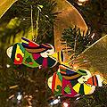 Set of 6 Pinewood 'Angel Trumpets' Ornaments (El Salvador)