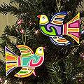 Set of 6 Pinewood 'Skybird' Ornaments (El Salvador)