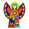 Handcrafted Pinewood 'Angel Of Hope' Wall Art (El Salvador)