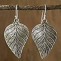 Sterling Silver 'Nature's Splendor' Dangle Earrings (India)