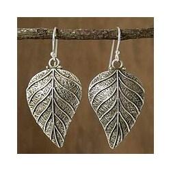 Sterling Silver 'Nature's Splendor' Dangle Earrings (India)
