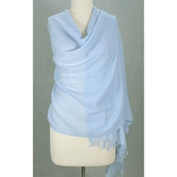 Angora Wool 'Sea Of Love' Shawl (India)