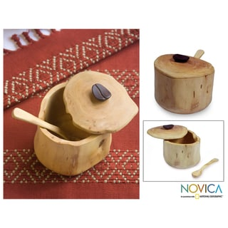 Granadillo Wood 'Sweet Acatenango' Sugar Bowl (Guatemala)
