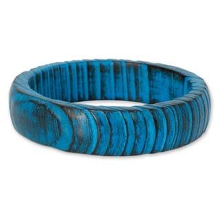 Mango Wood 'Delhi Skies' Bangle Bracelet (India)