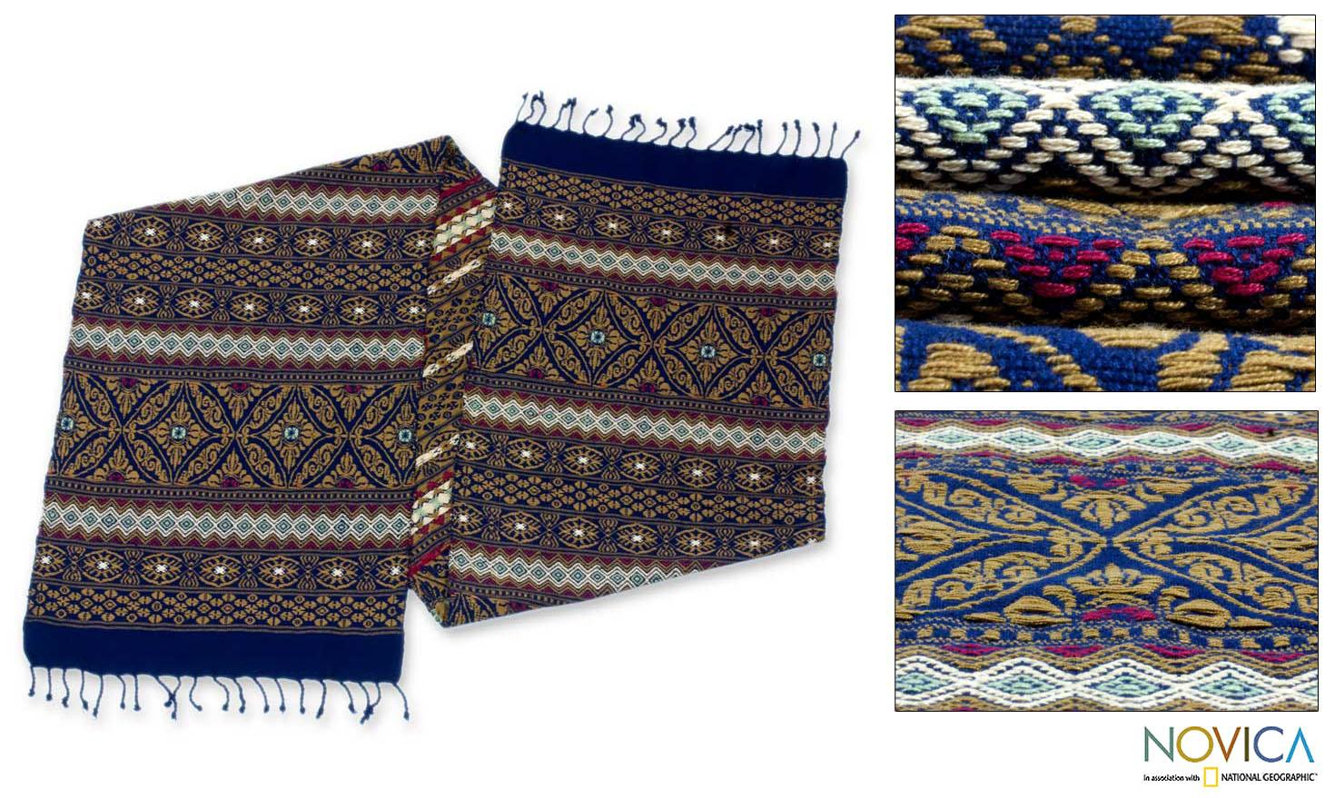 Handcrafted Cotton 'Guatemala is Home' Table Runner (Guatemala)