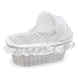 White Hooded Moses Basket in White