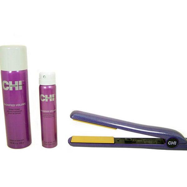 CHI Purple Glisten 1-inch Ceramic Hairstyling Iron Kit
