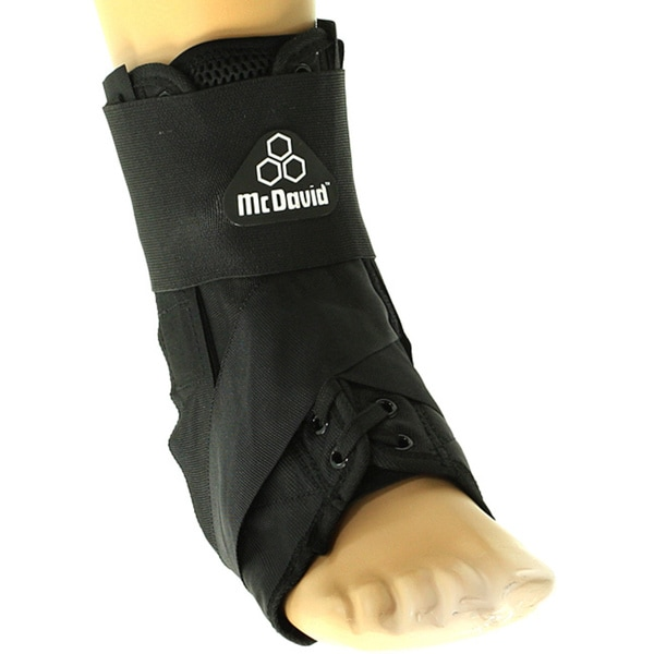 McDavid Black Laced Ankle Support