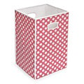Pink Polka Dot Folding Hamper and Storage Bin