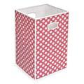Pink Polka Dot Folding Hamper and Storage Bin