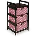 Pink Dot Three Drawer Hamper and Storage Unit