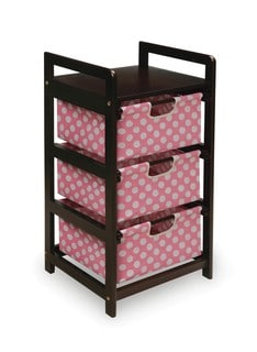 Pink Dot Three Drawer Hamper and Storage Unit