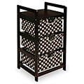 Espresso Polka Dot Three Drawer Hamper Unit