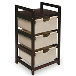 Espresso Three Drawer Storage Unit
