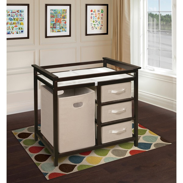 Espresso Modern Changing Table