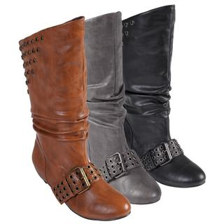 Hailey Jeans Co Women's 'Cinderella-21' Studded Slouchy Boots