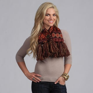 Muk Luks Just Rosy Flower Fair Isle Neck Warmer