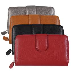 M Collection Women's Pebble Print Checkbook Wallet
