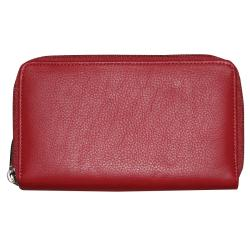 Dopp Women's Roma Double Zip-around Checkbook Wallet