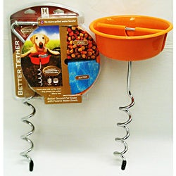 Better Tether Pet Food Bowl Anchor Stake