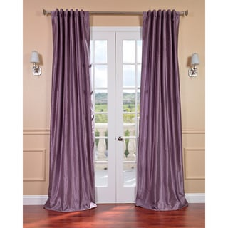 Smoky Plum Vintage 120-inch Faux Textured Dupioni Silk Curtain Panel