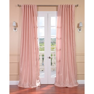 Blush Rose Vintage Faux Textured Dupioni Silk 84-inch Curtain Panel