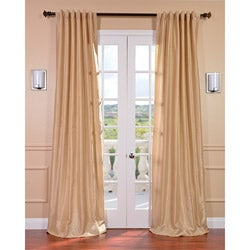 Almond Vintage Faux Textured Dupioni Silk 84-inch Curtain Panel
