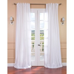 Ice White Vintage Faux Textured Dupioni Silk 84-inch Curtain Panel