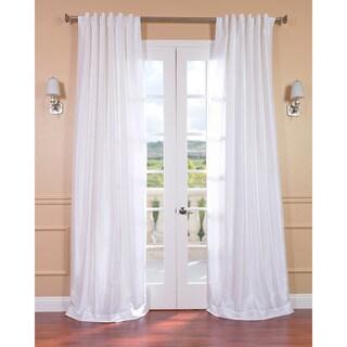 Ice White Vintage Faux Textured Dupioni Silk 84-inch Curtain Panel