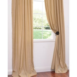 Brut Vintage Faux Textured Dupioni Silk 96-inch Curtain Panel