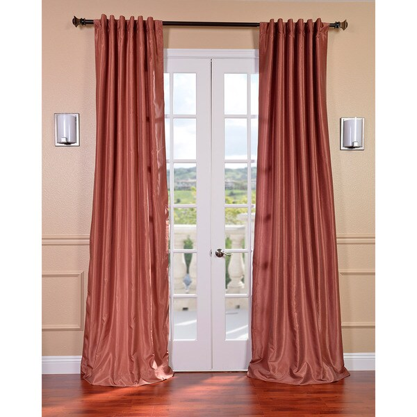 Spice Vintage Faux Textured Dupioni Silk 96-inch Curtain Panel