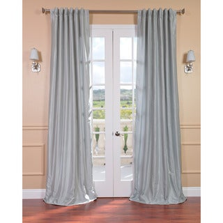Sea Glass Faux Textured Dupioni Silk 108-inch Curtain Panel
