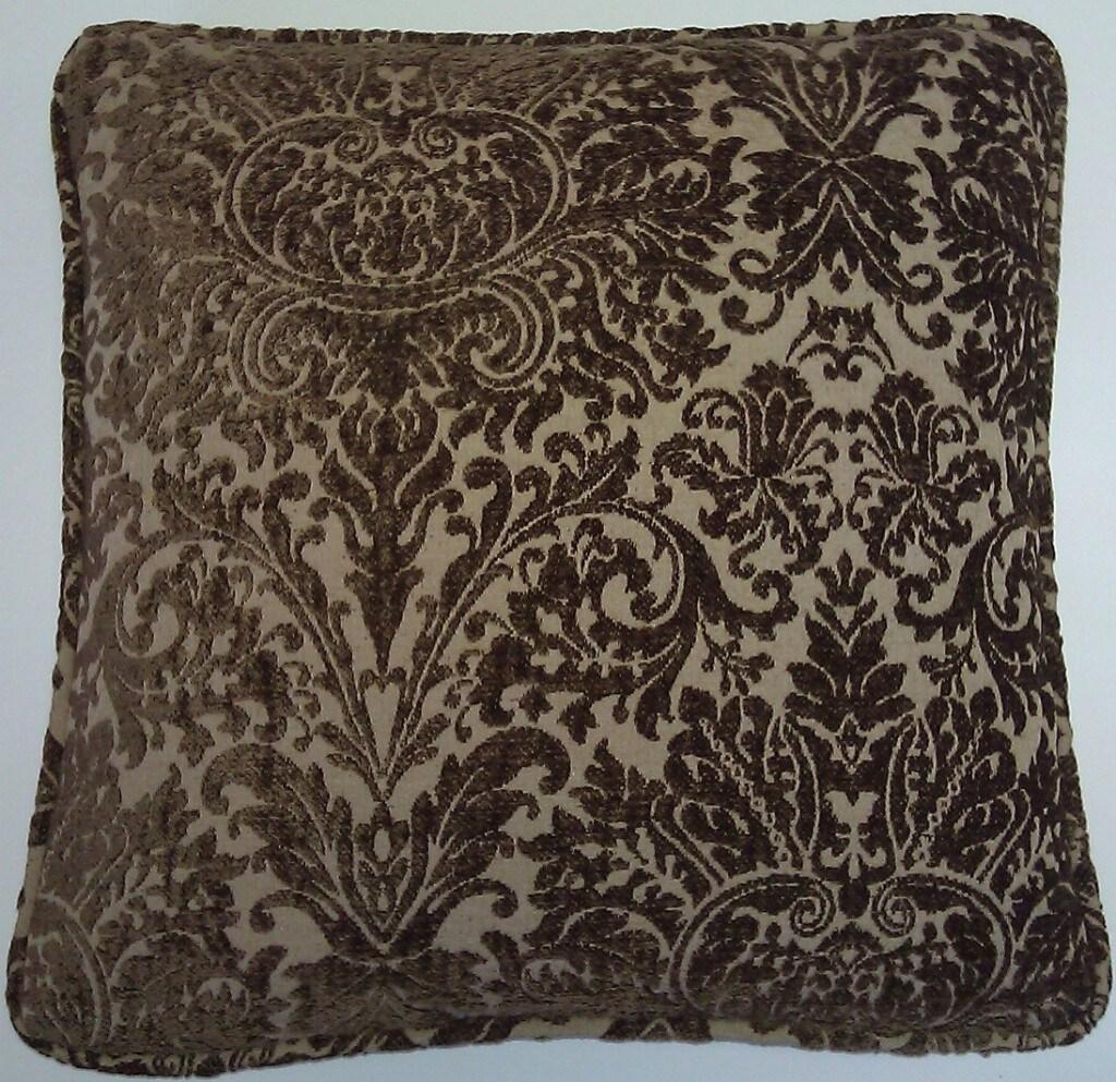 Corona Decor European Woven Cut Velvet Decorative Throw Pillow