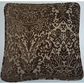 European Woven Cut Velvet Decorative Throw Pillow