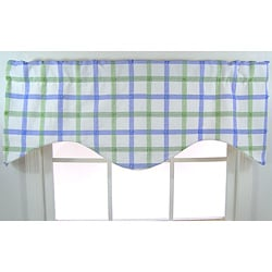 Pastel Plaid Cotton Cornice Valance
