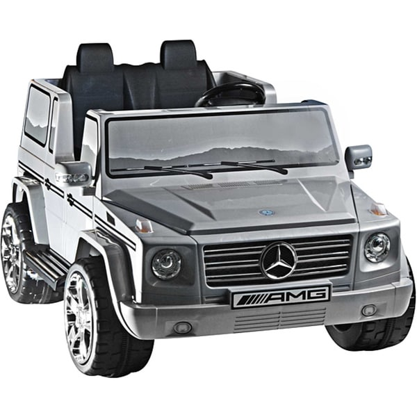 two seater silver 12v mercedes benz g55 amg ride on. Black Bedroom Furniture Sets. Home Design Ideas