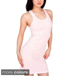 American Apparel Women's Rib 2x1 Racerback Dress