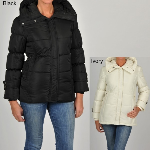 Excelled Women's Quilted Hooded Jacket