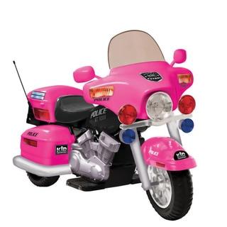 Pink 12V Police Patrol Ride-On Motorcycle