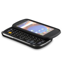 Black Hard Case/ LCD Screen Protector for Samsung Epic D700 4G Galaxy