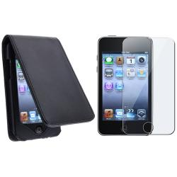 Leather Case/ Film Screen Protector for Apple iPod Touch 3rd 2nd 1st
