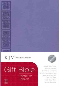 The Holy Bible: King James Version Gift Bible, Premium Edition, Purple, Simulated Leather (Paperback)